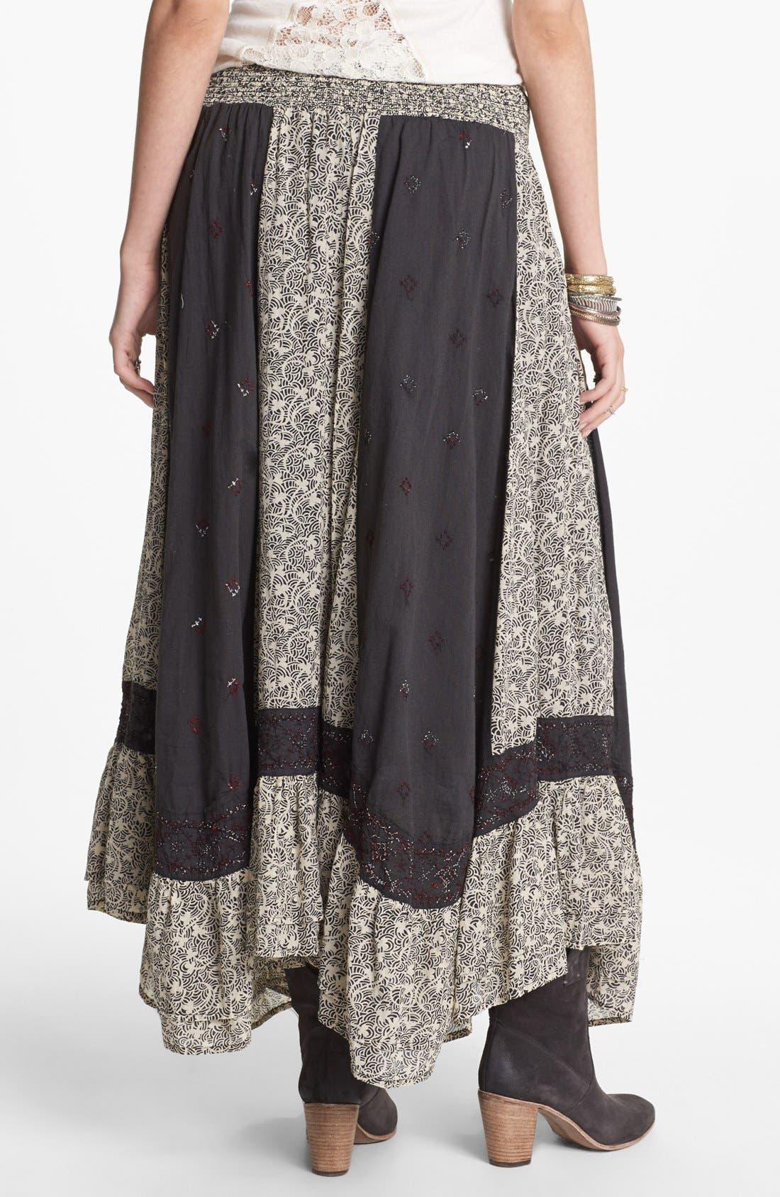 Alternate Image 2  - Free People 'Heirloom' Embroidered Peasant Skirt