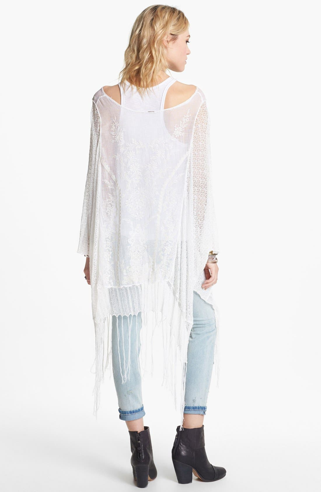 Alternate Image 2  - Free People 'Dancing with Flowers' Sheer Sweater