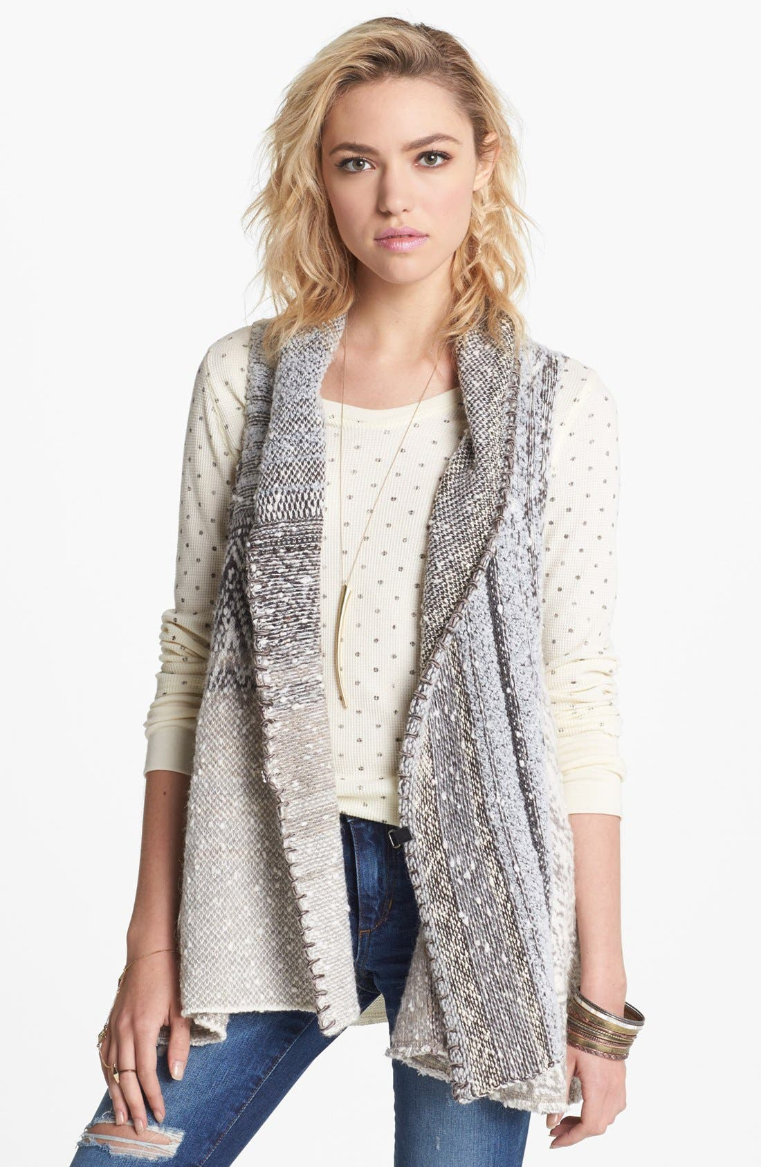 Alternate Image 1 Selected - Free People 'In Your Arms' Sleeveless Cardigan