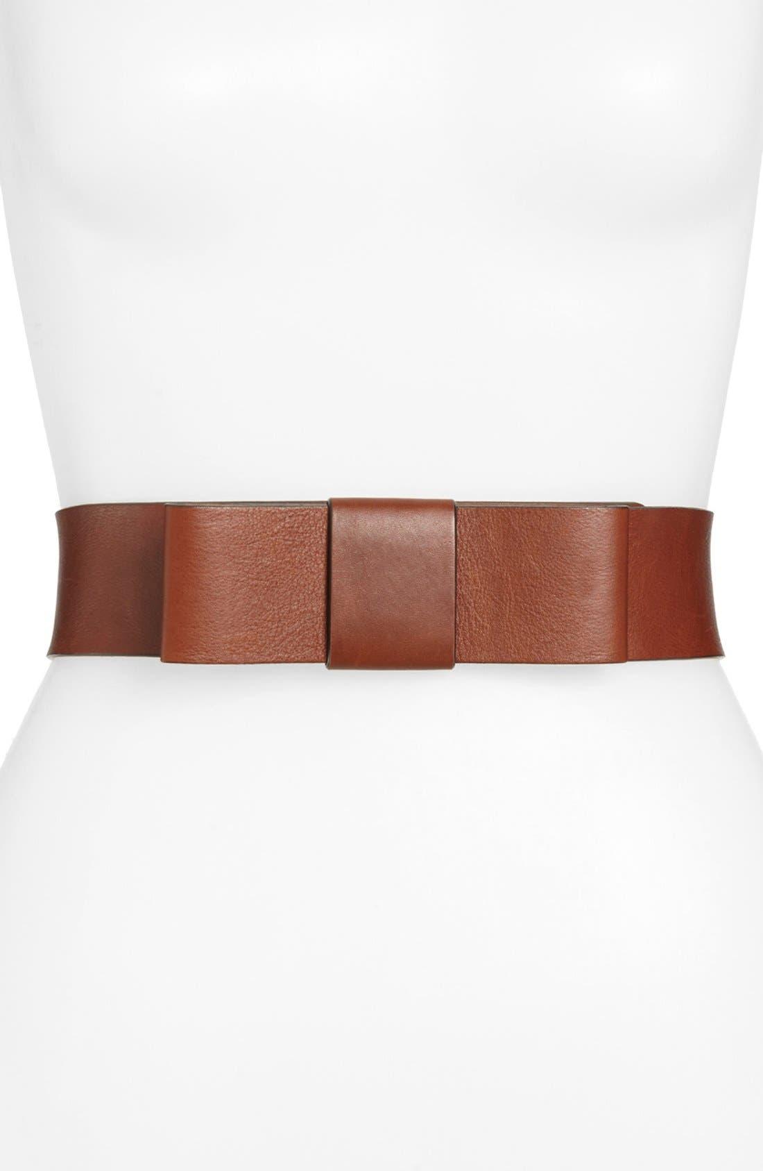 Alternate Image 1 Selected - kate spade new york 'bow' leather belt