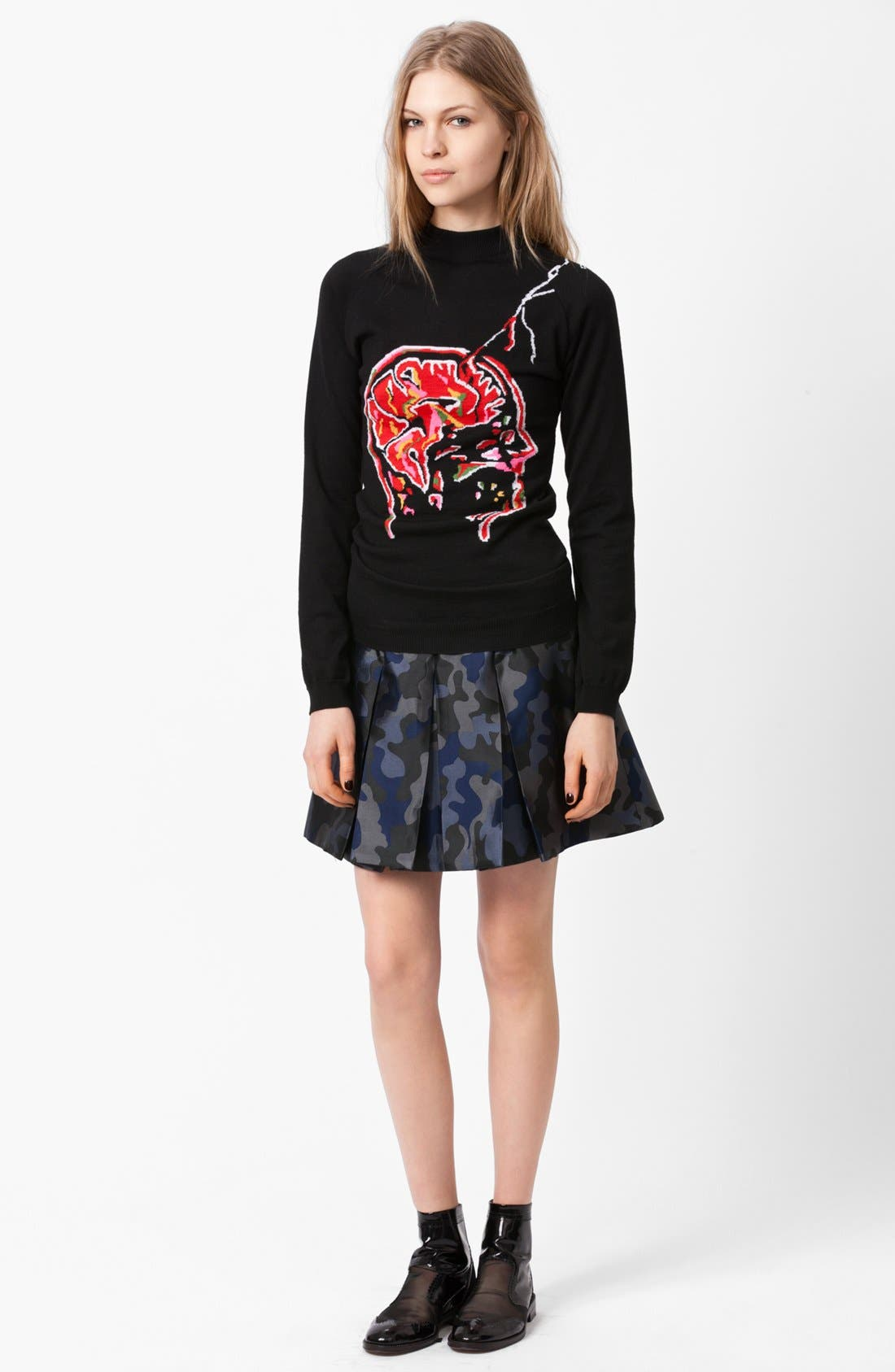 Alternate Image 1 Selected - Christopher Kane Brain Intarsia Knit Sweater