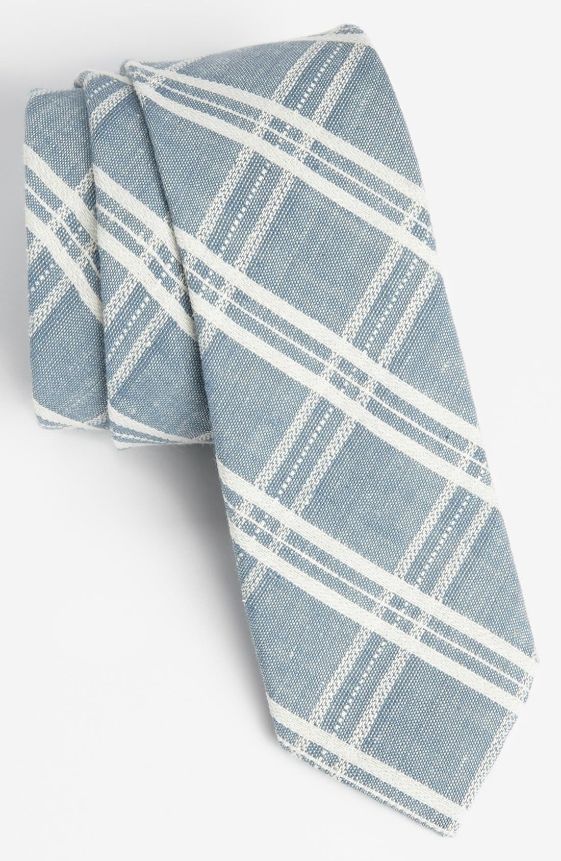 Alternate Image 1 Selected - Topman Check Chambray Tie