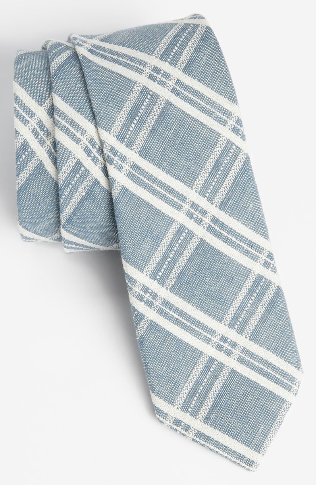Check Chambray Tie,                         Main,                         color, Blue Check