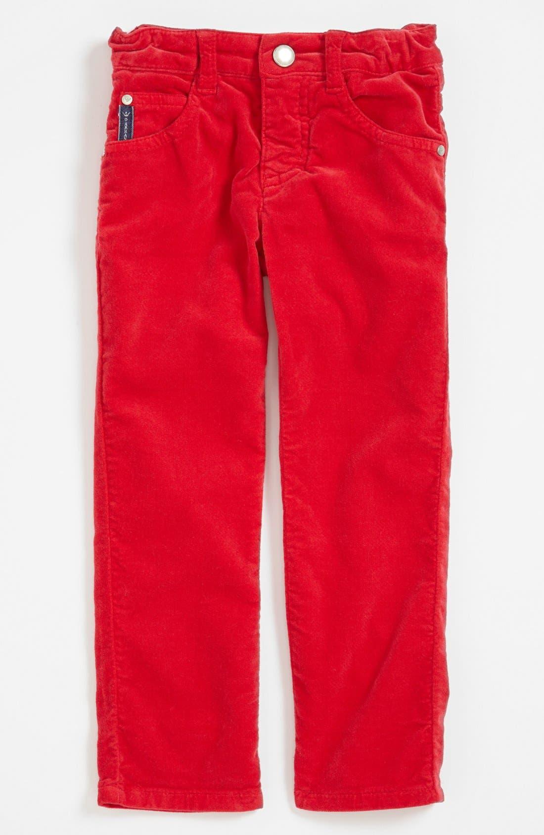Alternate Image 1 Selected - Armani Junior Corduroy Pants (Toddler Girls, Little Girls & Big Girls)