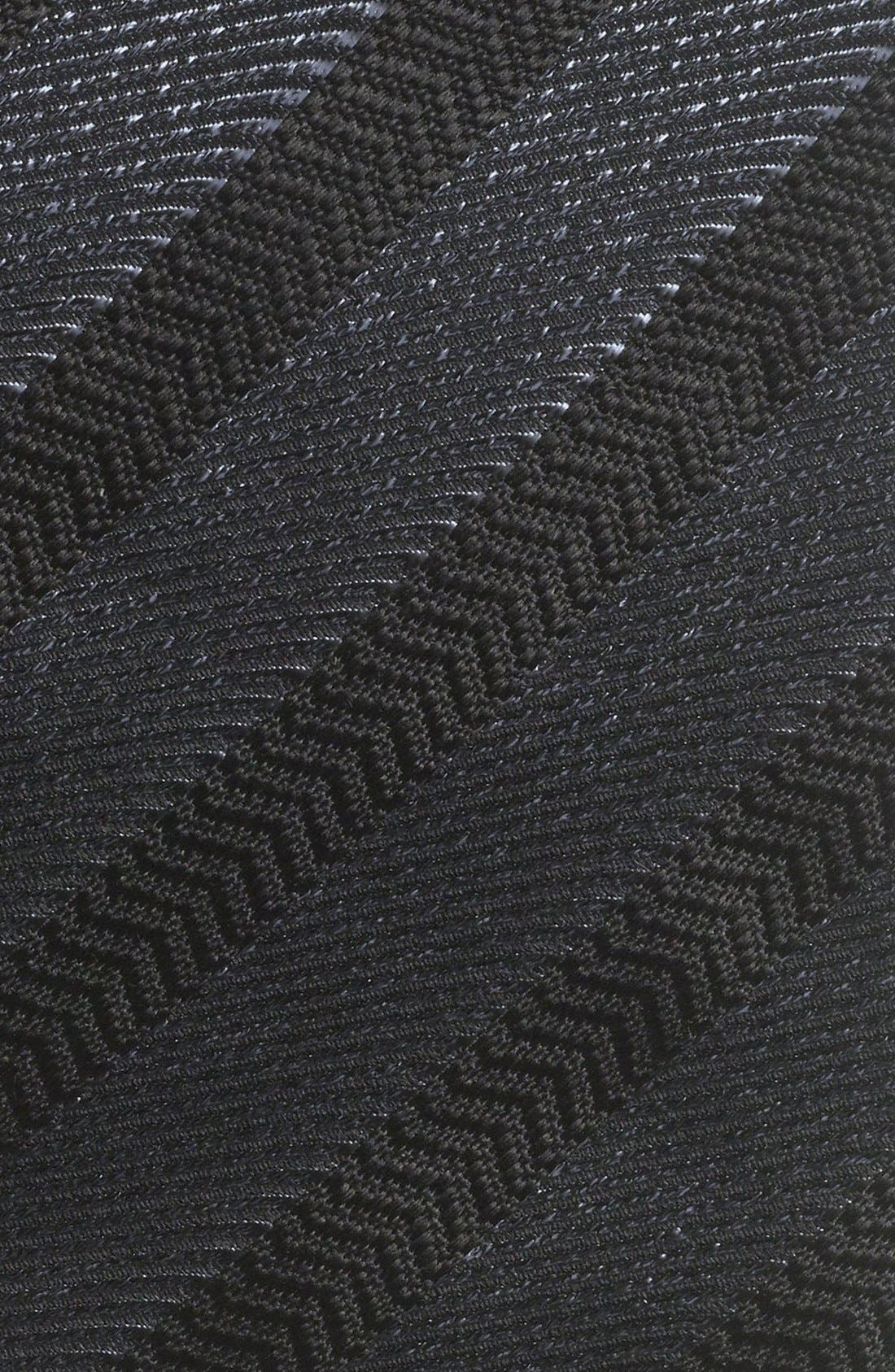 Alternate Image 2  - Yves Saint Laurent Woven Herringbone Tie