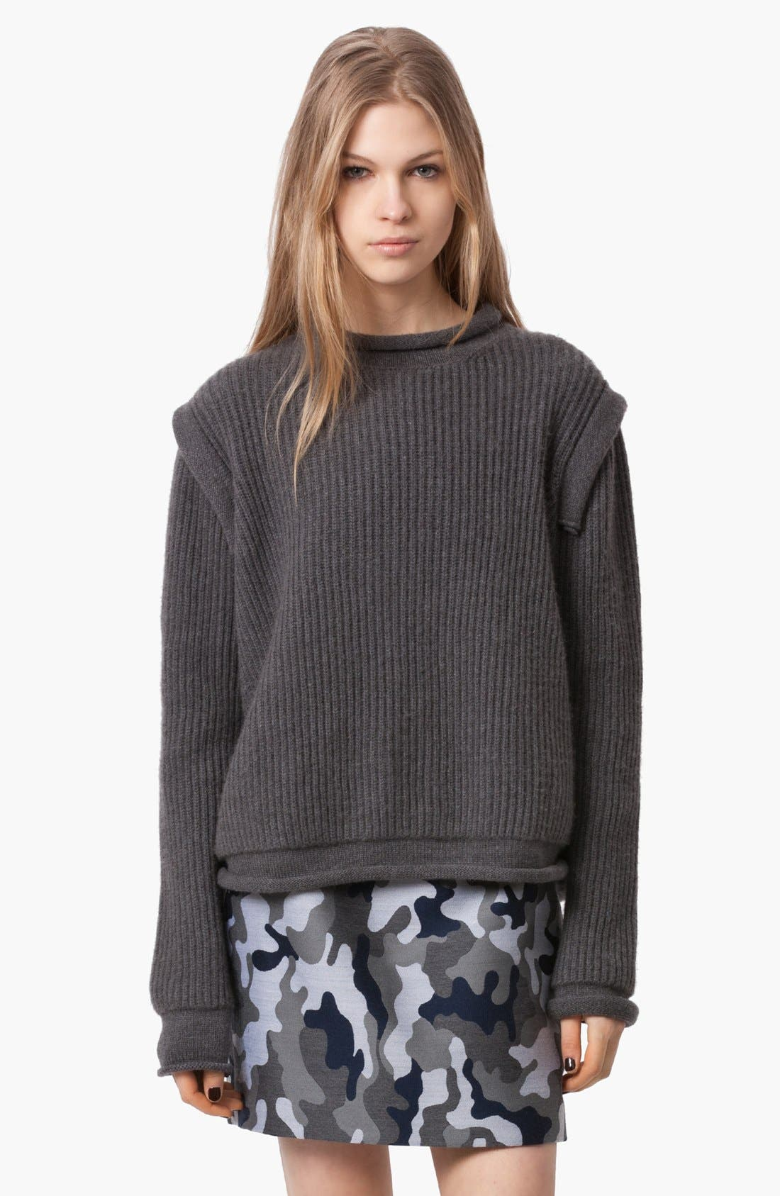 Alternate Image 1 Selected - Christopher Kane Ribbed Cashmere Sweater