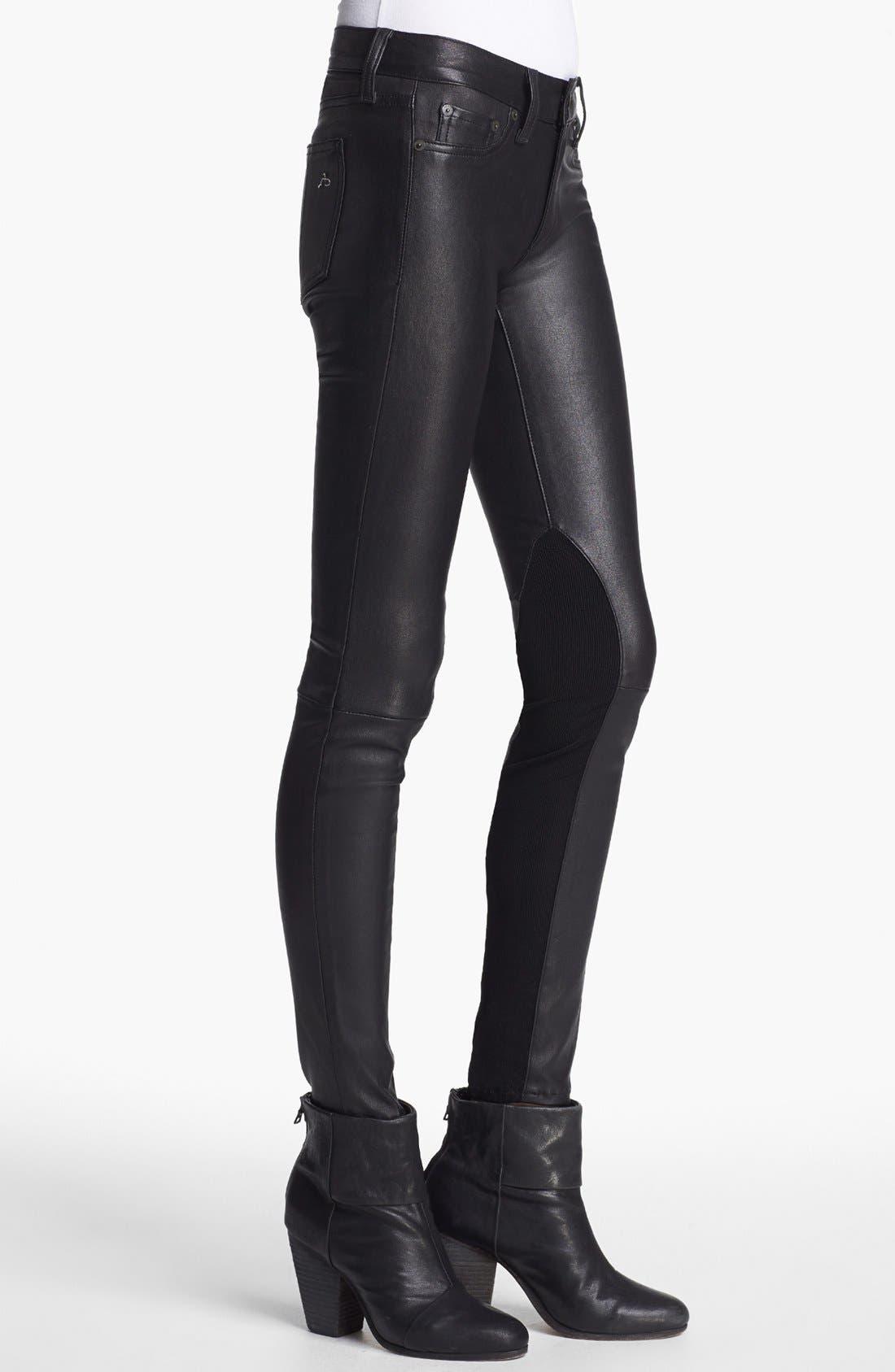 Alternate Image 3  - rag & bone/JEAN 'The Reverse' Leather Pants
