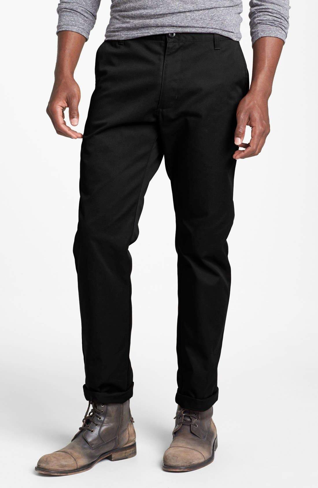 Alternate Image 1 Selected - RVCA 'The Weekend' Slim Straight Leg Chinos