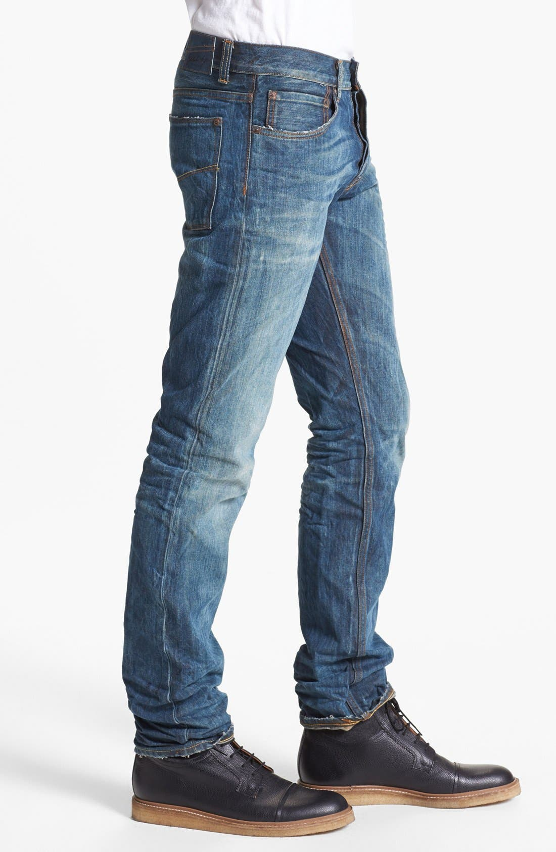 Alternate Image 3  - Gilded Age 'Baxten' Slim Fit Jeans (Blue Rust)