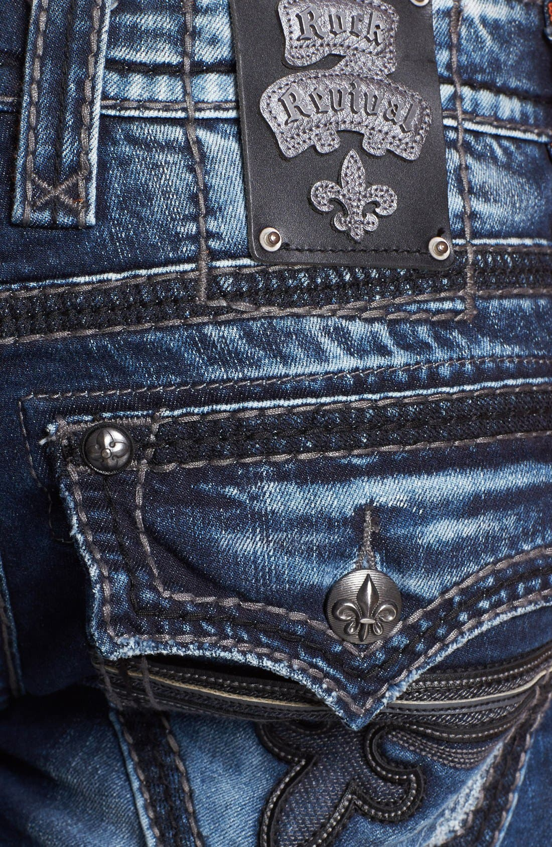 Alternate Image 4  - Rock Revival 'Tim Alternative' Straight Leg Jeans (Medium Blue)