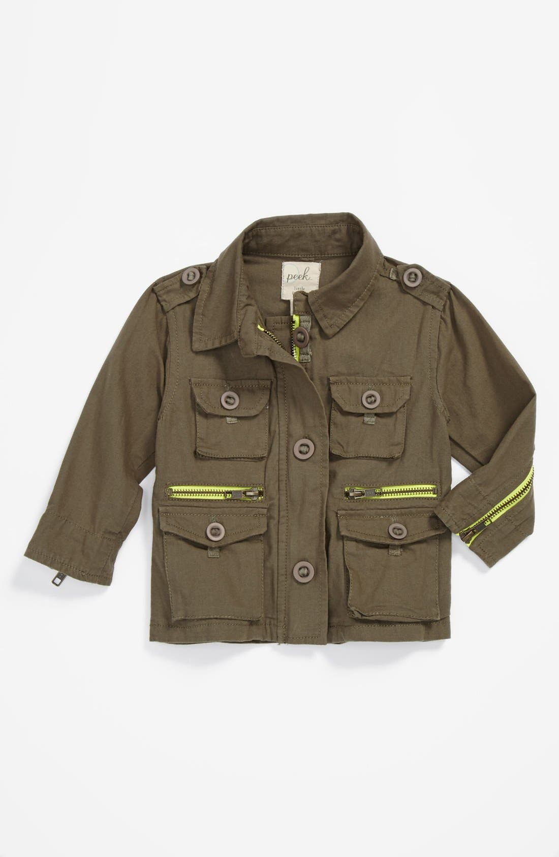 Main Image - Peek 'McCabe' Military Jacket (Baby Girls)