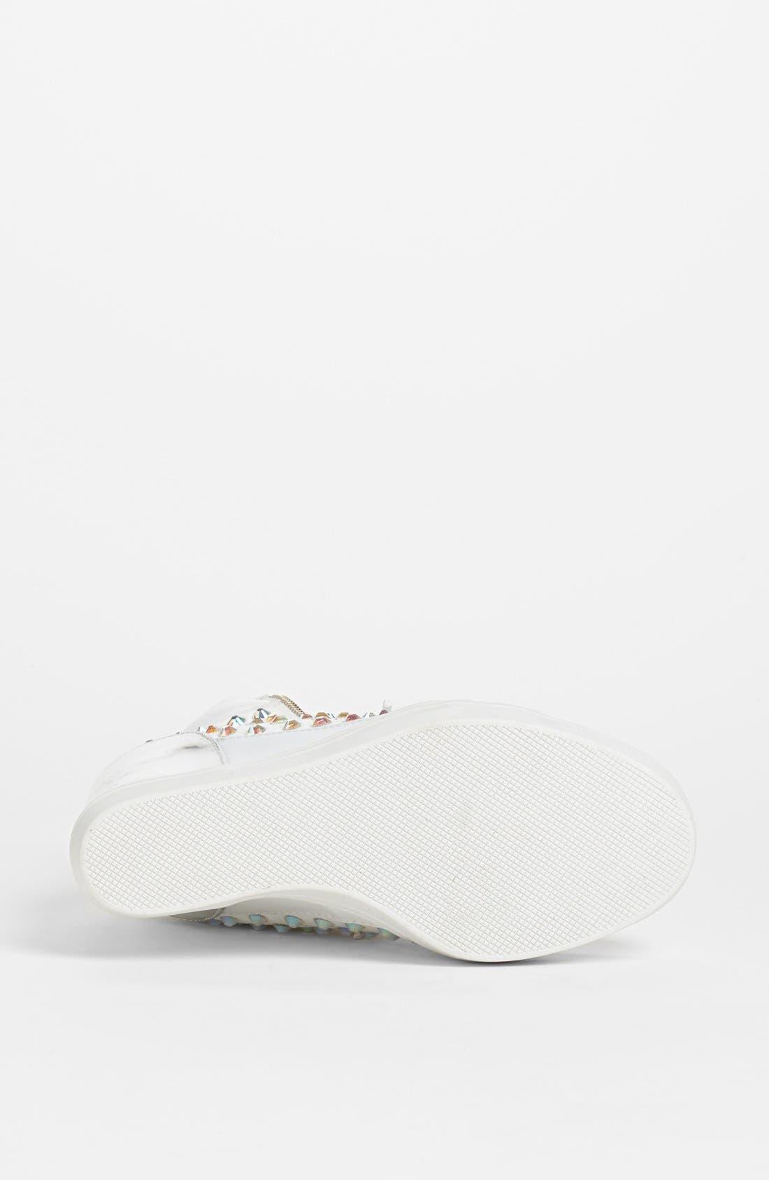 'Zipps' Wedge Sneaker,                             Alternate thumbnail 4, color,                             White Multi