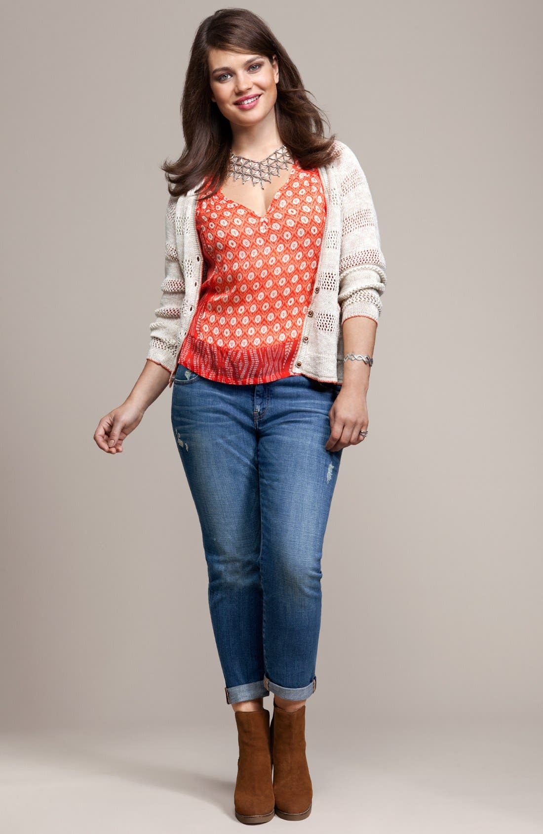 Alternate Image 4  - Lucky Brand 'Caley' Tunic (Plus)