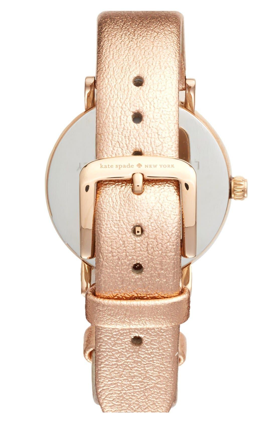 Alternate Image 2  - kate spade new york 'metro' metallic strap watch, 34mm