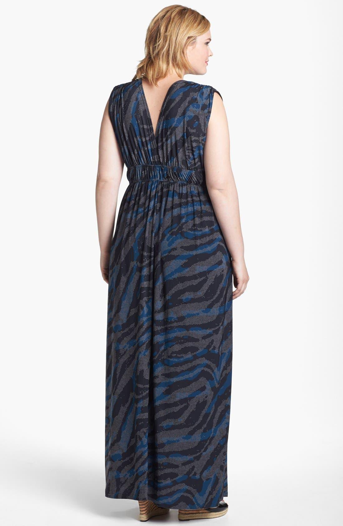 Alternate Image 2  - Viereck 'Rochelle' Matte Jersey Maxi Dress (Plus Size)