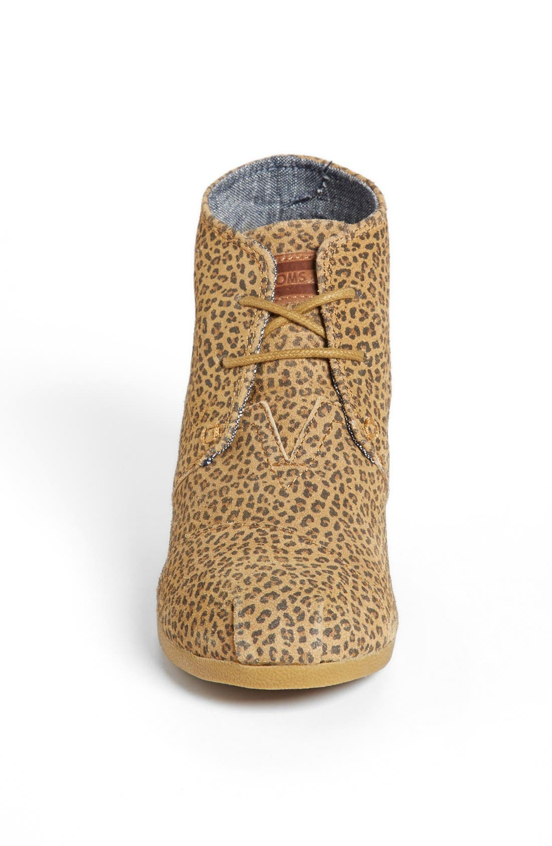 Alternate Image 3  - TOMS 'Desert - Cheetah' Suede Wedge Bootie