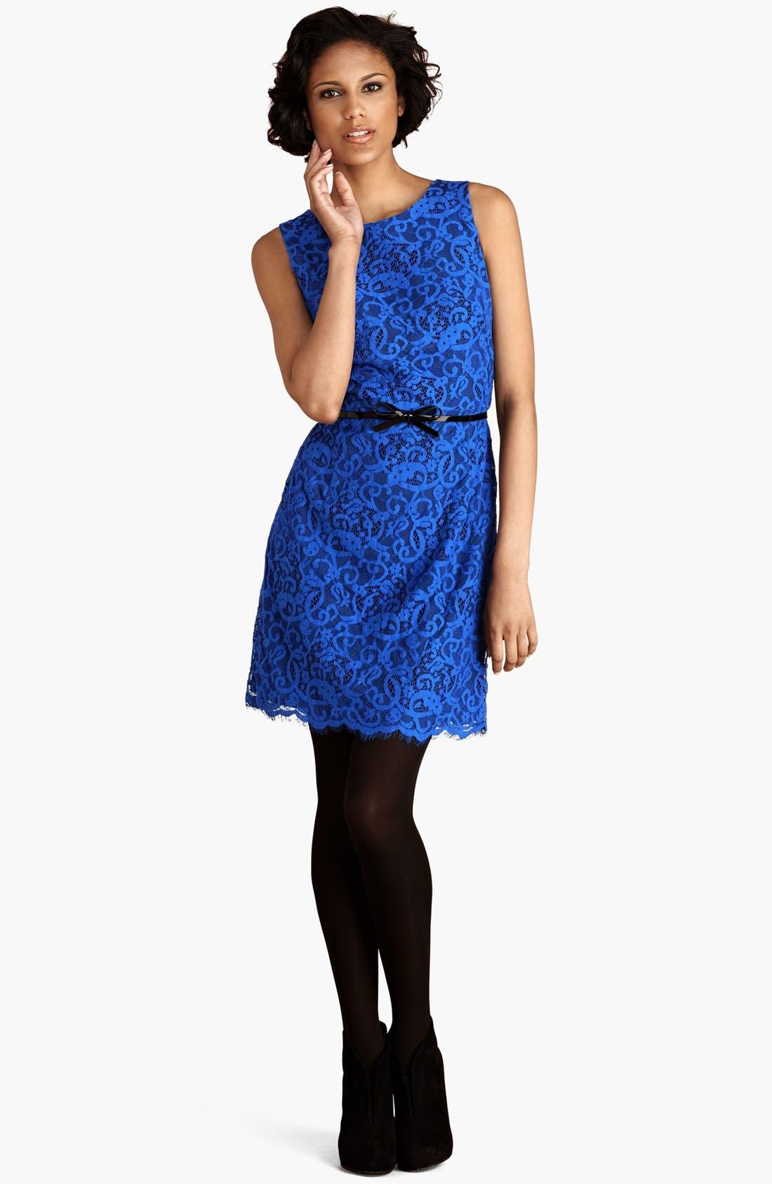 Alternate Image 1 Selected - Donna Morgan Lace Sheath Dress