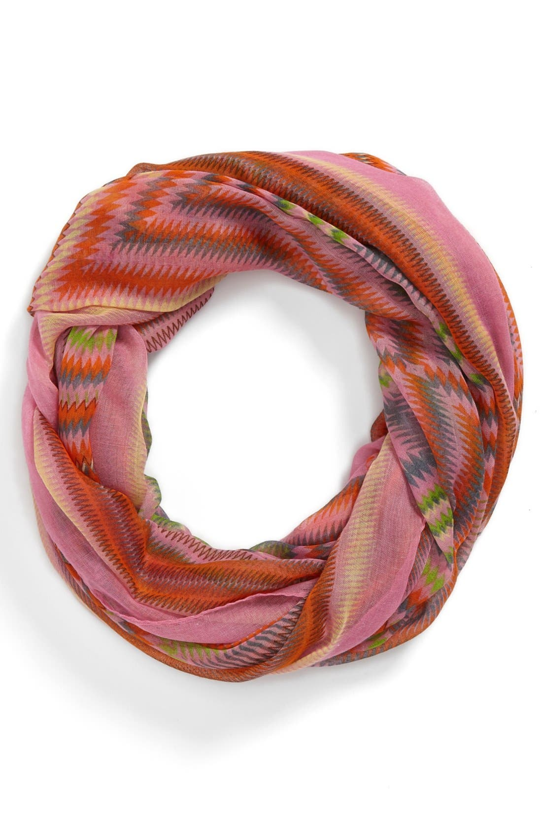 Alternate Image 1 Selected - David  & Young Geometric Infinity Scarf (Juniors)