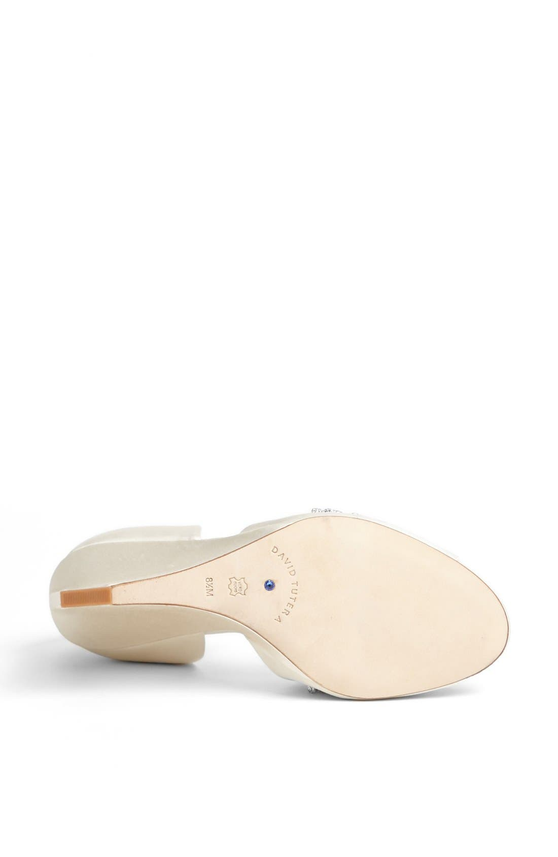 'Winter' Wedge Sandal,                             Alternate thumbnail 4, color,                             Ivory Satin
