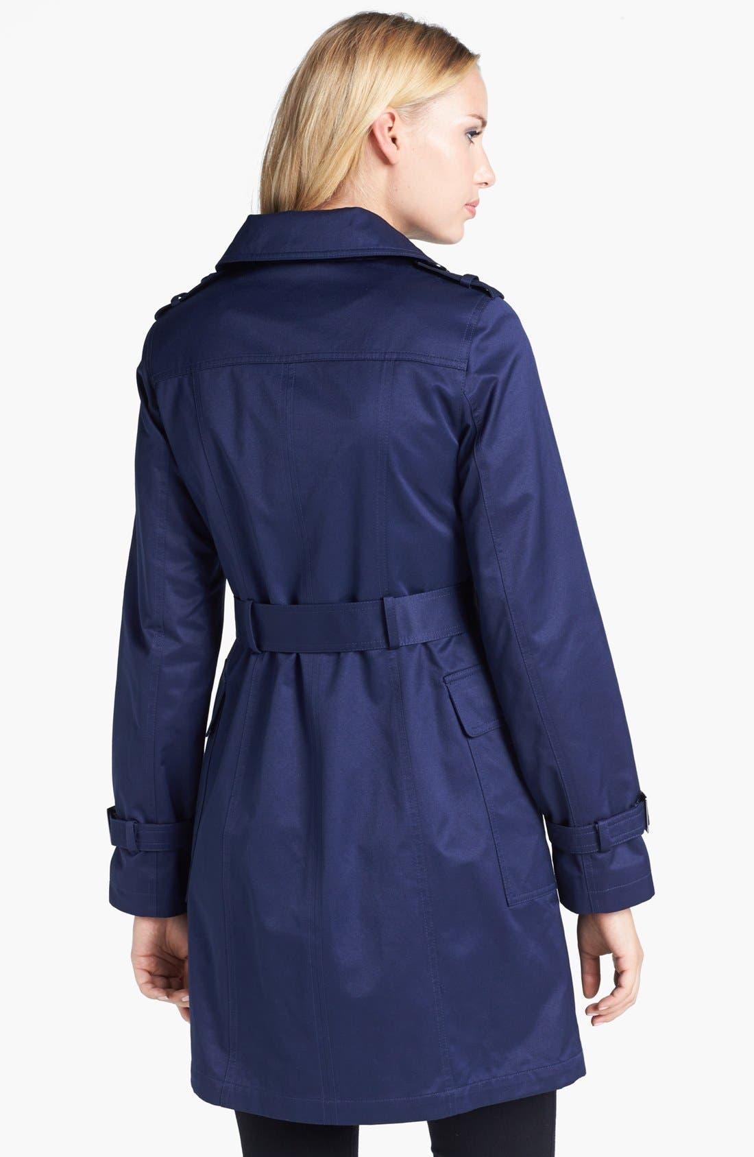 Alternate Image 2  - Gallery Belted Trench Coat (Regular & Petite) (Nordstrom Online Exclusive)