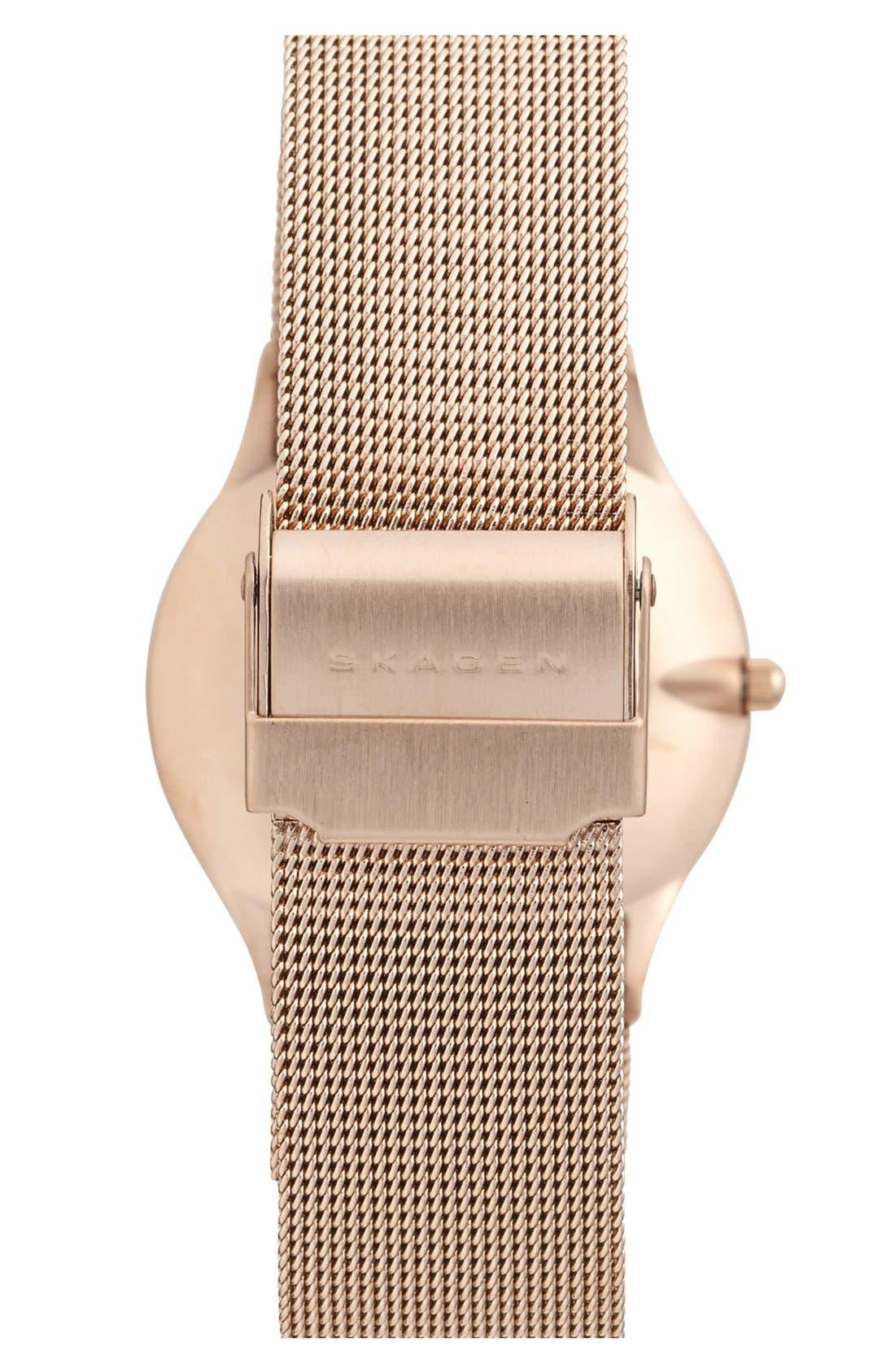 Alternate Image 2  - Skagen Round Mesh Strap Watch, 34mm