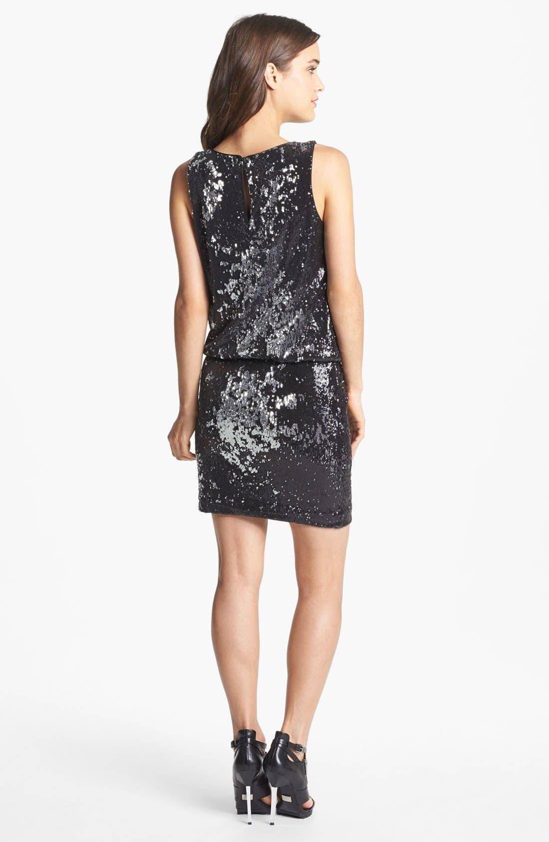 Alternate Image 2  - Nicole Miller Sequin Blouson Dress