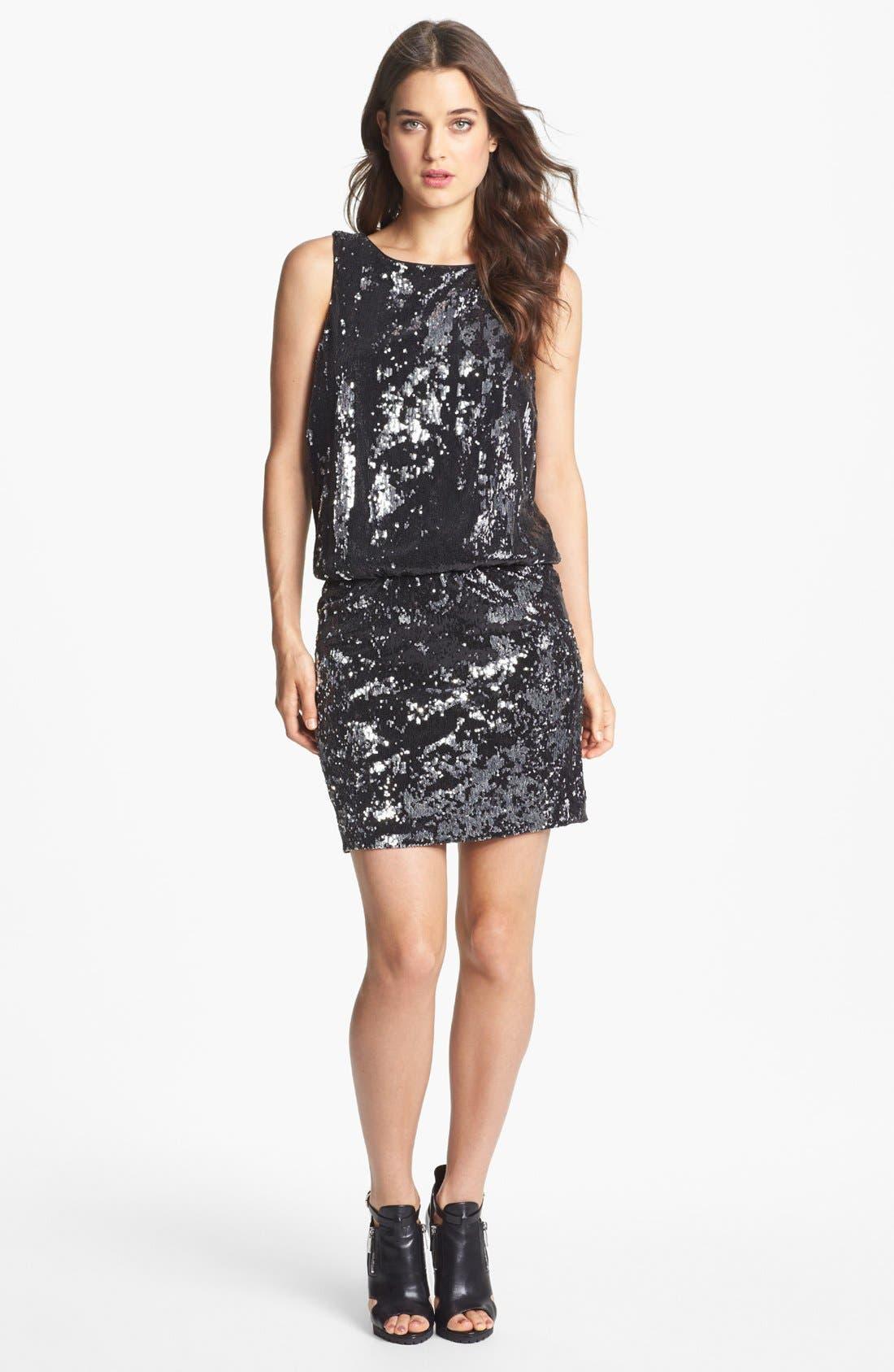 Main Image - Nicole Miller Sequin Blouson Dress