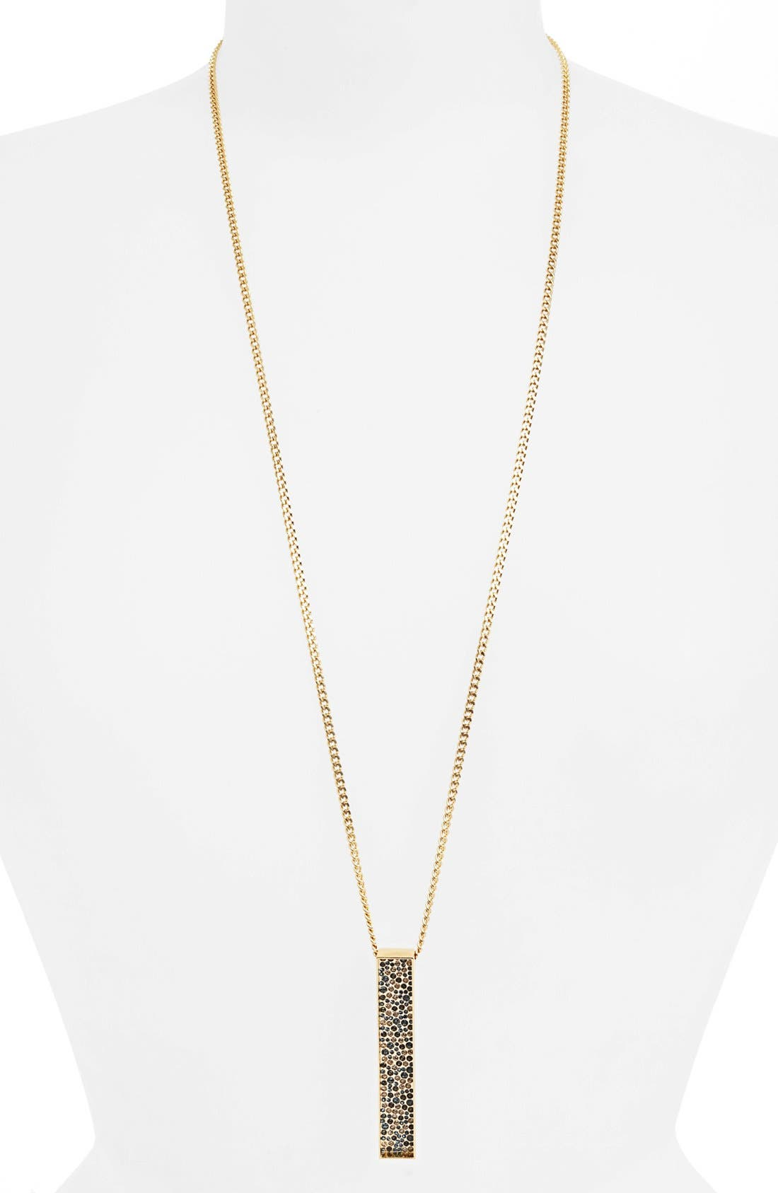 Main Image - St. John Collection Pavé Box Long Pendant Necklace