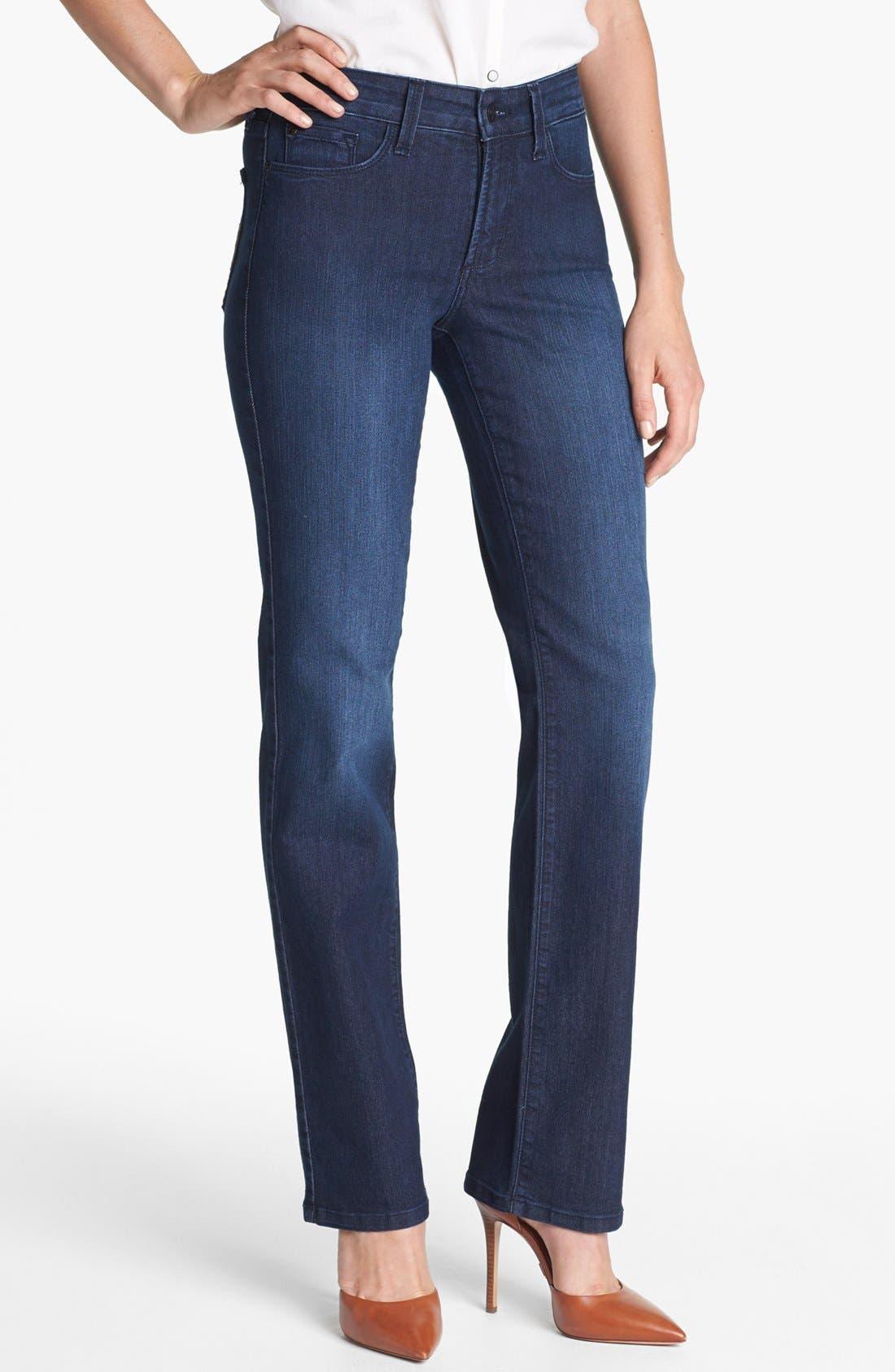 Main Image - NYDJ 'Marilyn' Stretch Straight Leg Jeans (Dana Point) (Petite)