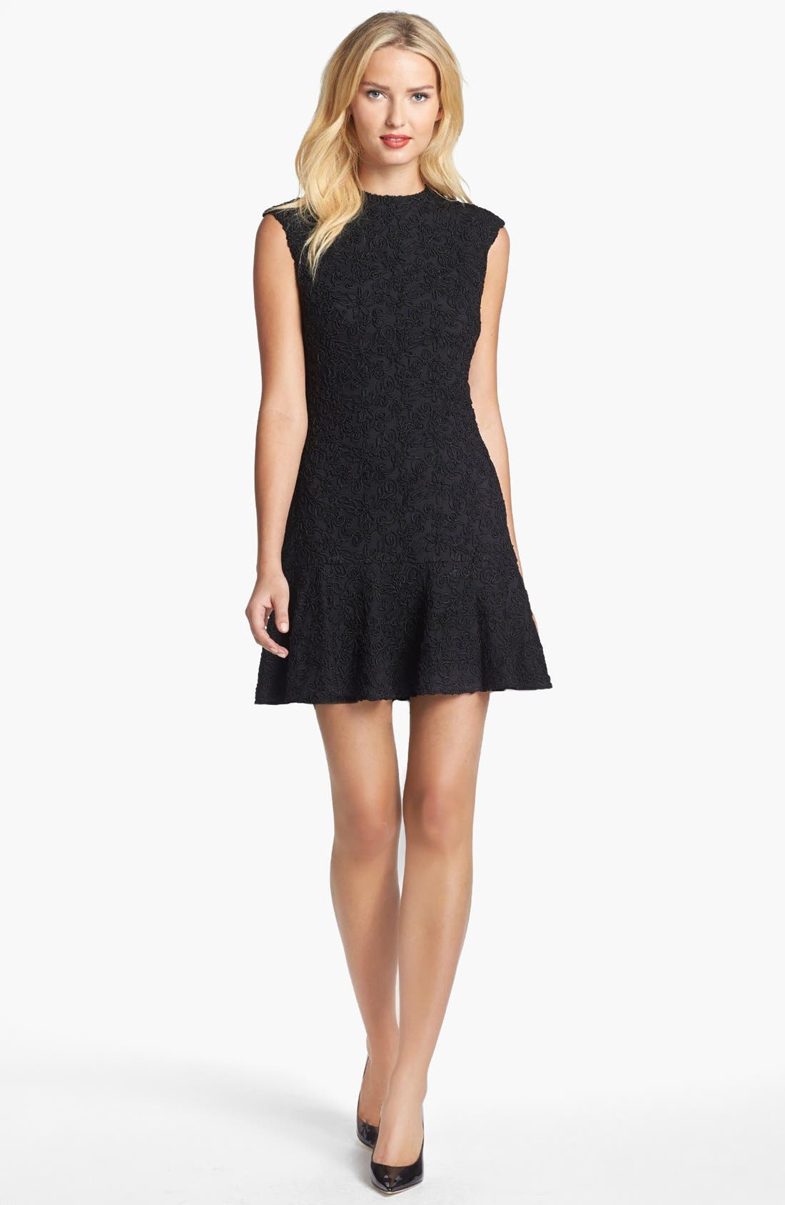 Alternate Image 1 Selected - Dolce Vita Ribbon Lace Drop Waist Fit & Flare Dress