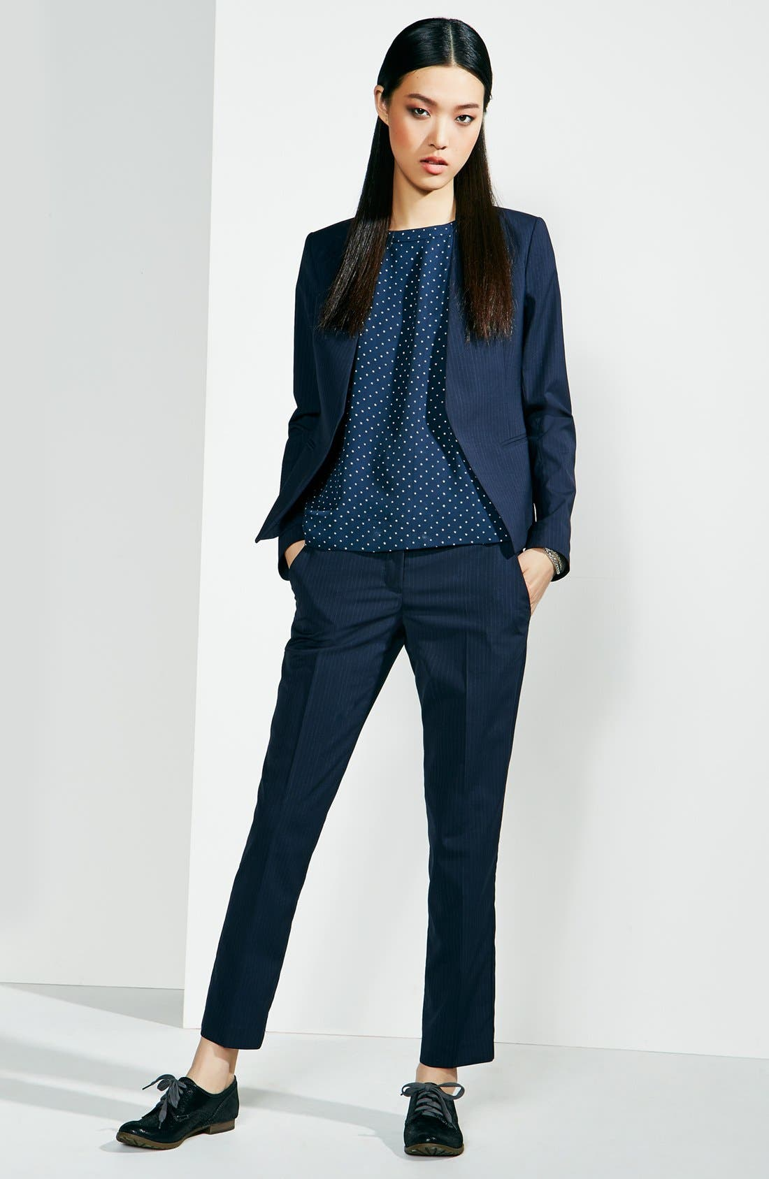 Alternate Image 7  - Theory 'Testra' Stretch Wool Trousers
