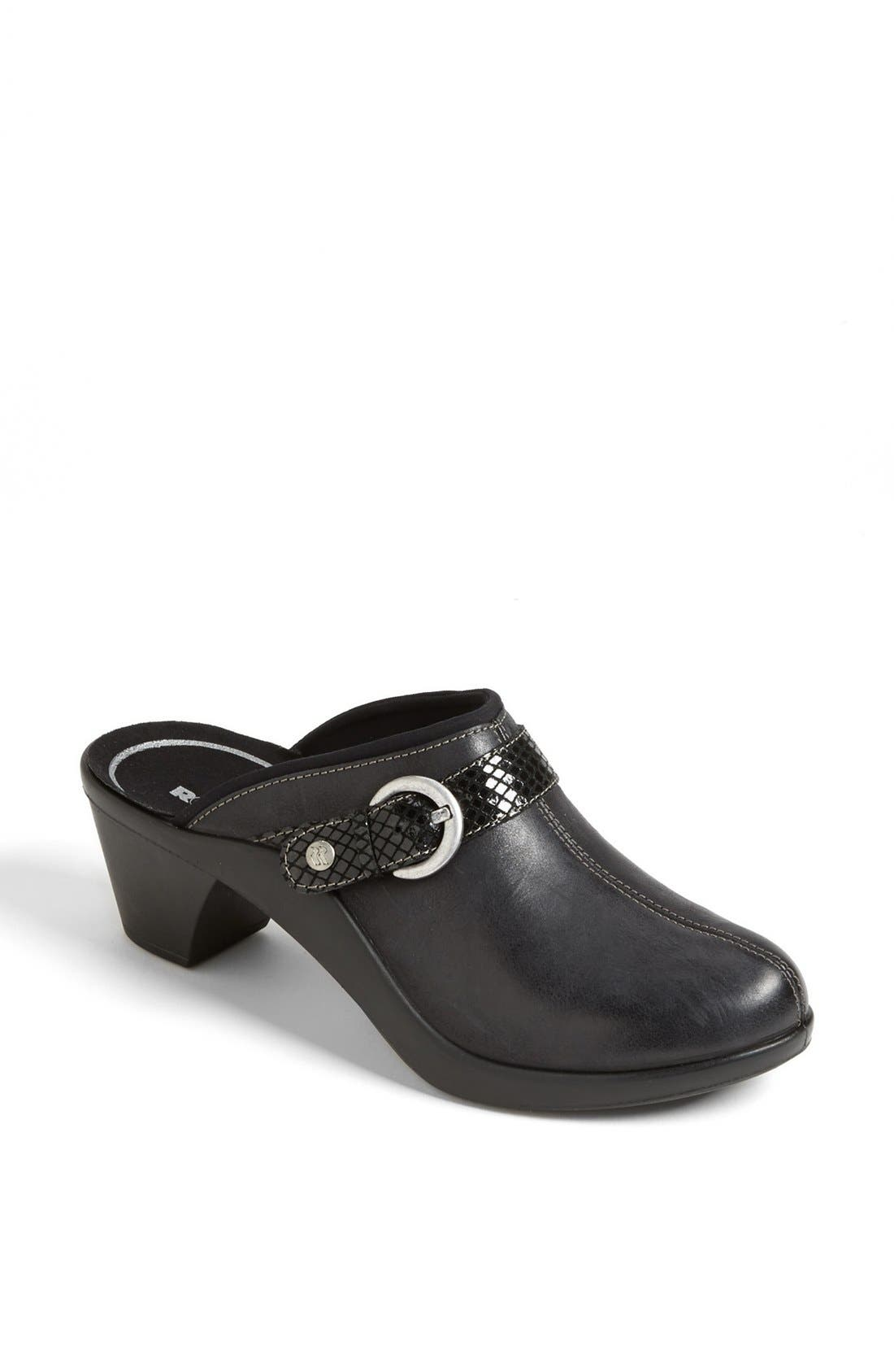 'Mokasetta 279' Mule,                             Main thumbnail 1, color,                             Black