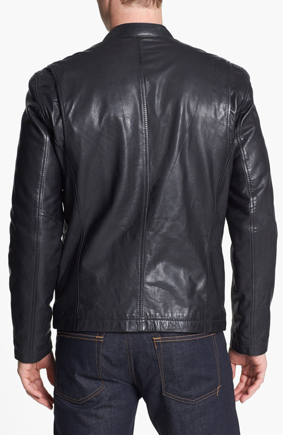 Alternate Image 2  - Marc New York by Andrew Marc 'Cannon' Leather Moto Jacket
