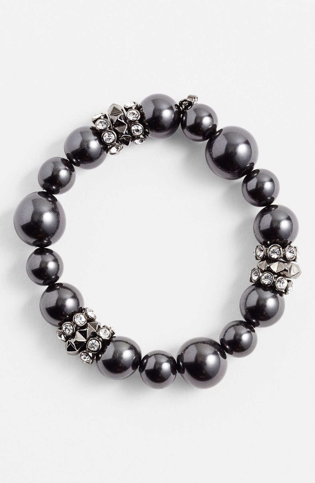 Main Image - Givenchy Faux Pearl Stretch Bracelet (Nordstrom Exclusive)