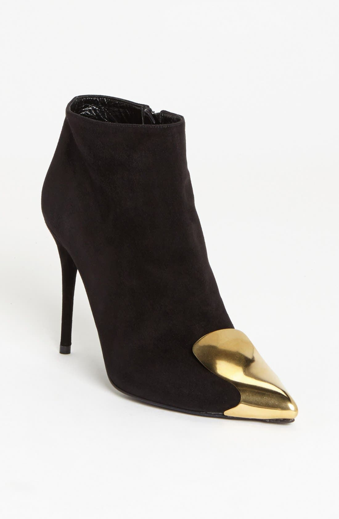 Alternate Image 1 Selected - Alexander McQueen Metal Toe Bootie