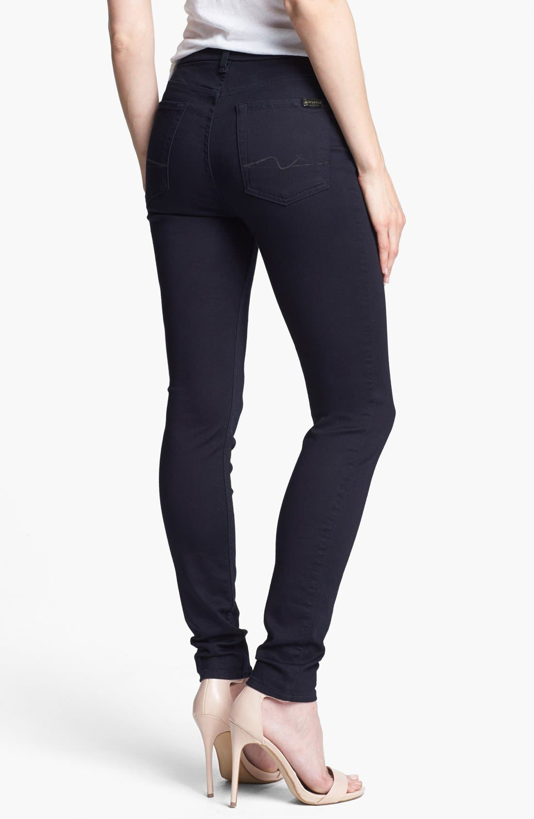 Alternate Image 2  - 7 For All Mankind® 'The Skinny' Stretch Jeans (Elasticity Clean Blue)