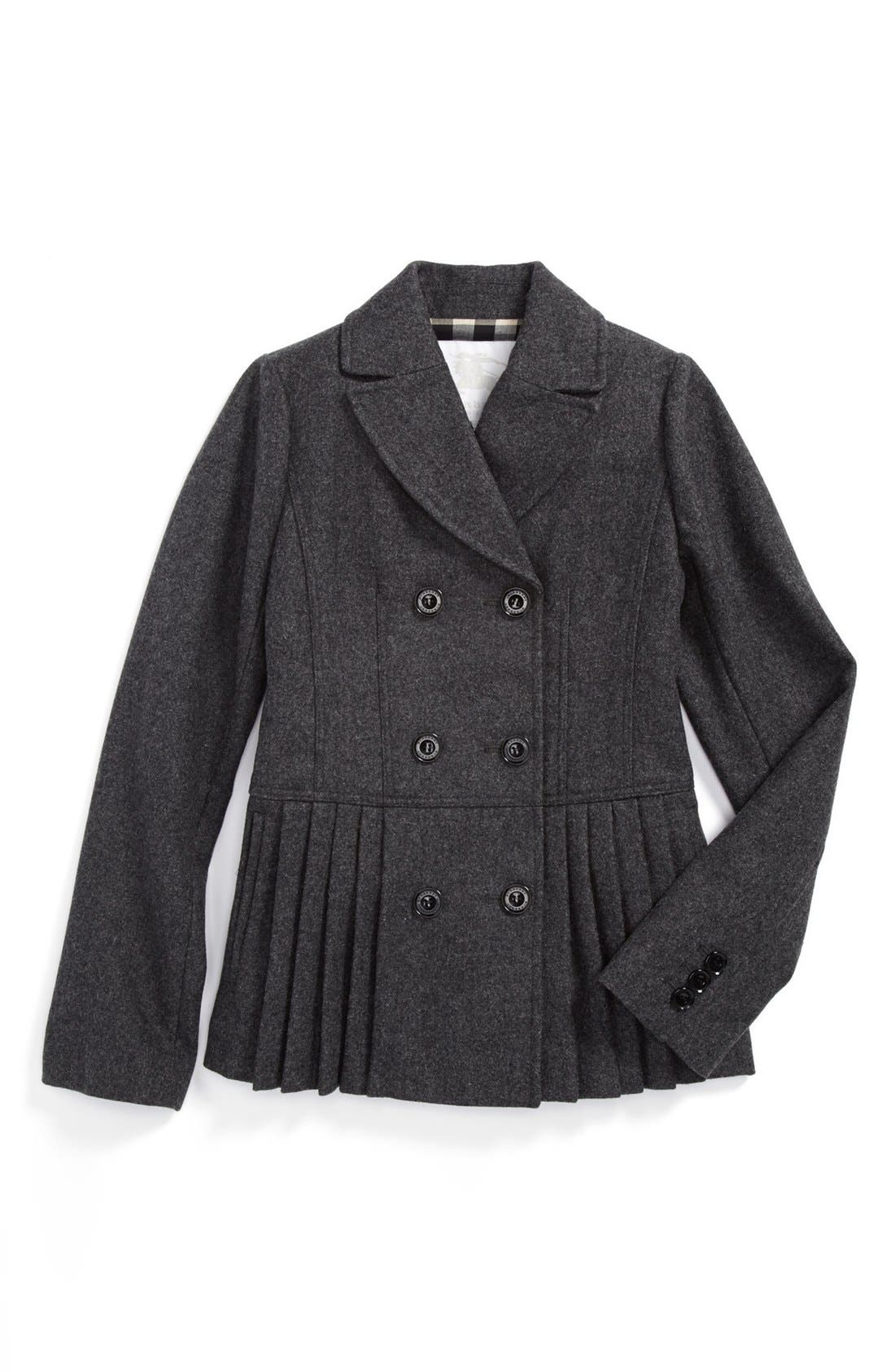 Alternate Image 1 Selected - Burberry Tailored Jacket (Little Girls & Big Girls)
