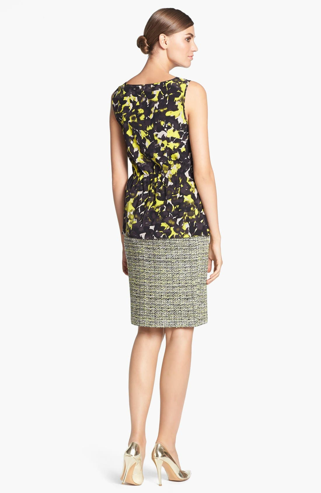 Alternate Image 3  - St. John Collection 'Layered Leaves' Print Crepe Blouse