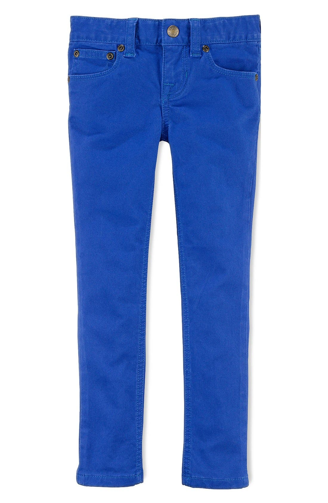 Alternate Image 1 Selected - Ralph Lauren Skinny Jeans (Toddler Girls)