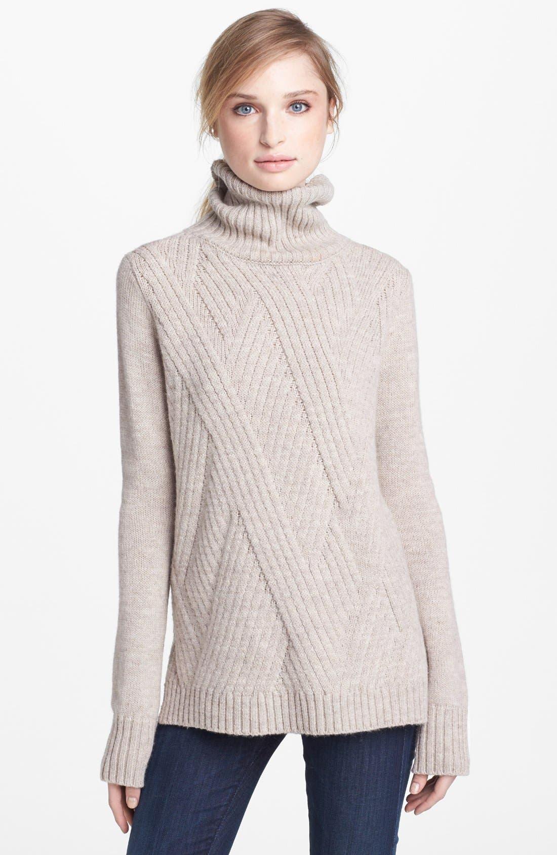 Alternate Image 1 Selected - Vince 'Travelling' Ribbed Turtleneck Sweater