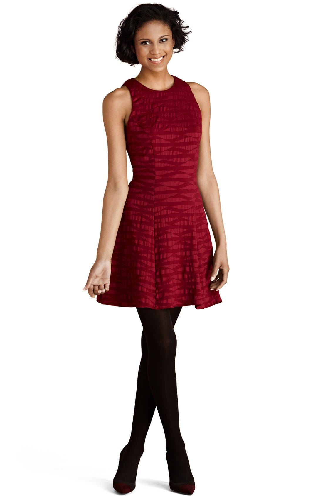 Alternate Image 1 Selected - Donna Morgan Jacquard Fit & Flare Dress
