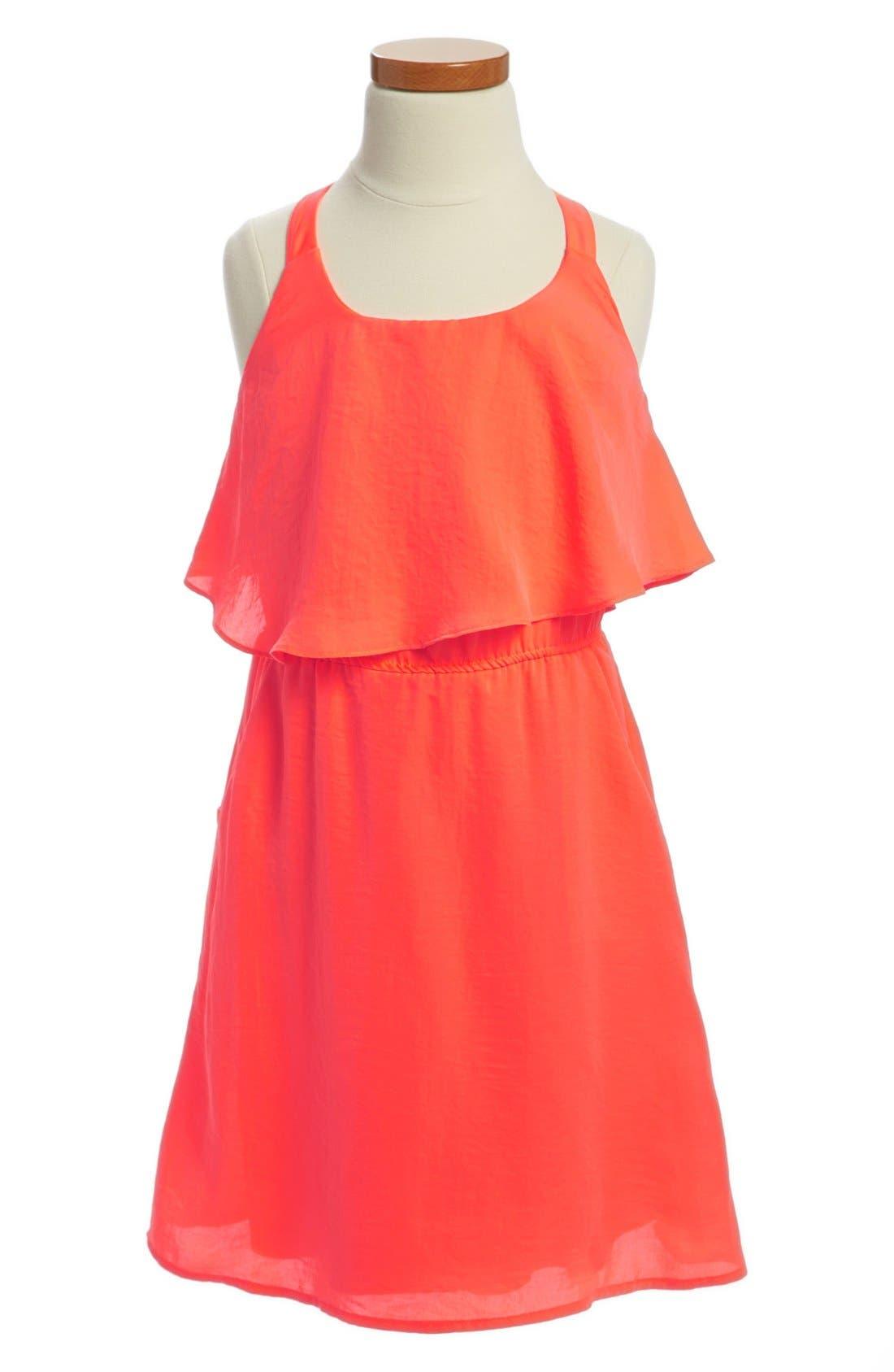 Main Image - Paper Doll Lace Back Popover Dress (Little Girls & Big Girls)