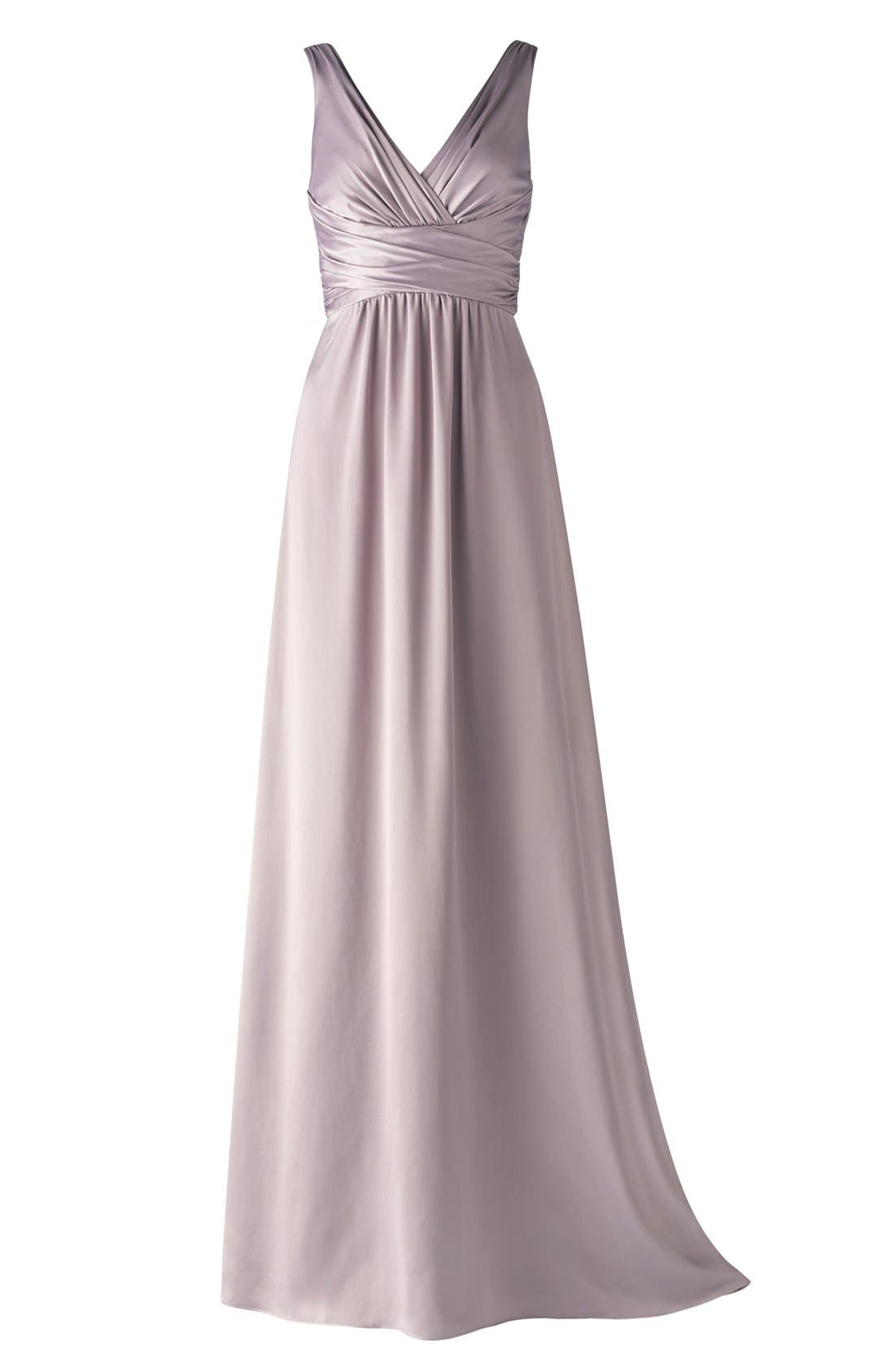 Alternate Image 4  - Amsale Long Charmeuse Dress