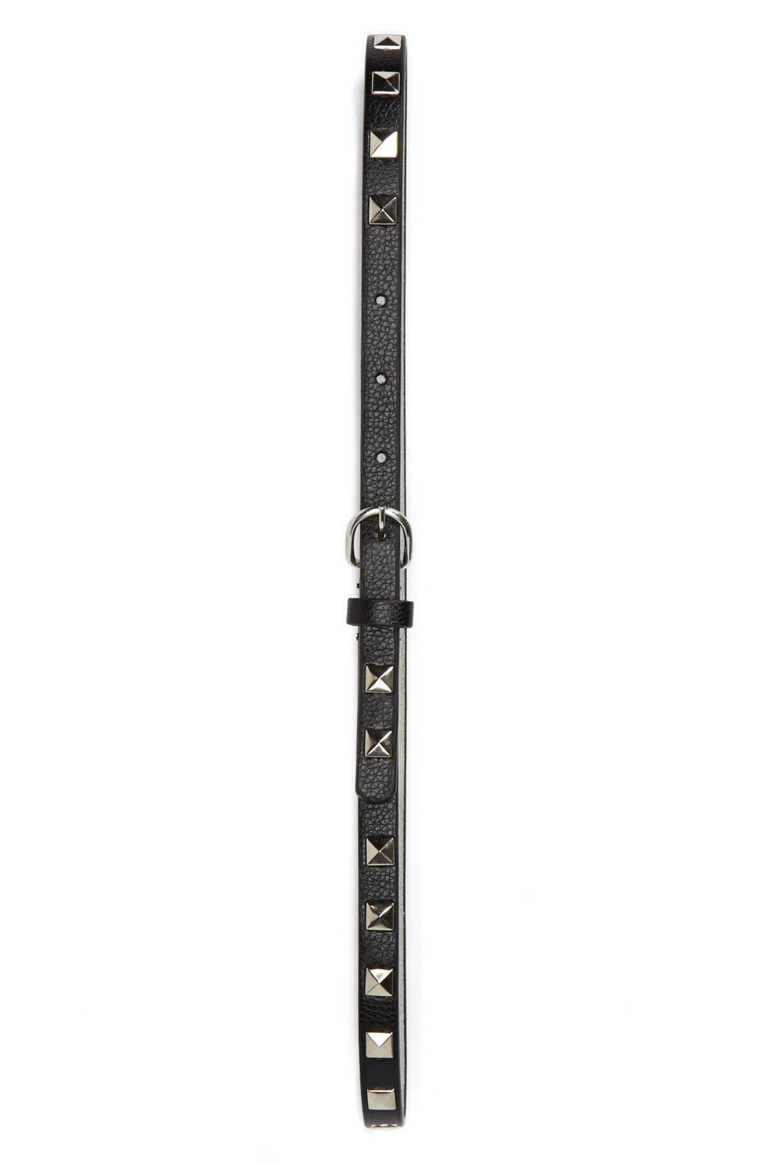 Alternate Image 1 Selected - Rockin Robin Studded Leather Belt (Little Girls & Big Girls)