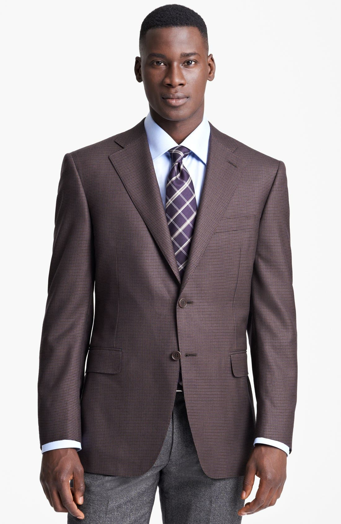 Alternate Image 1 Selected - Canali Classic Fit Plaid Sportcoat