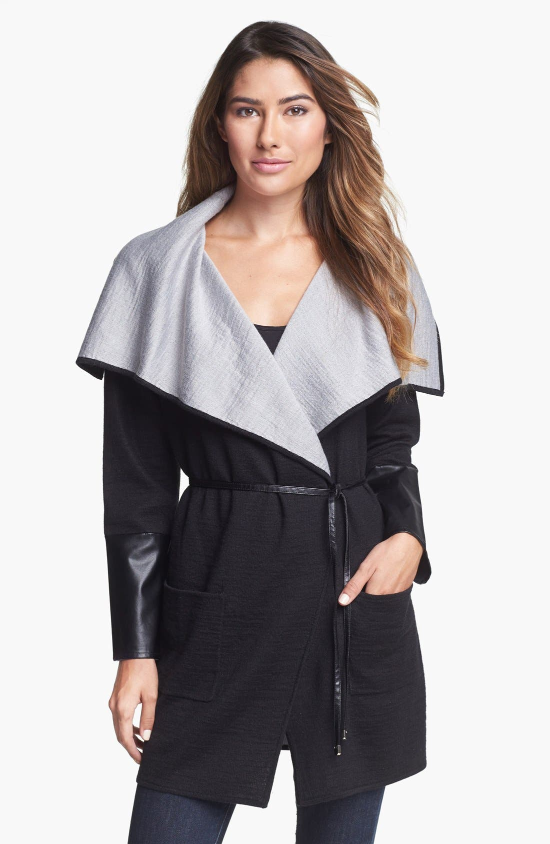 Alternate Image 1 Selected - Beatrix Ost Wrap Sweater with Belt