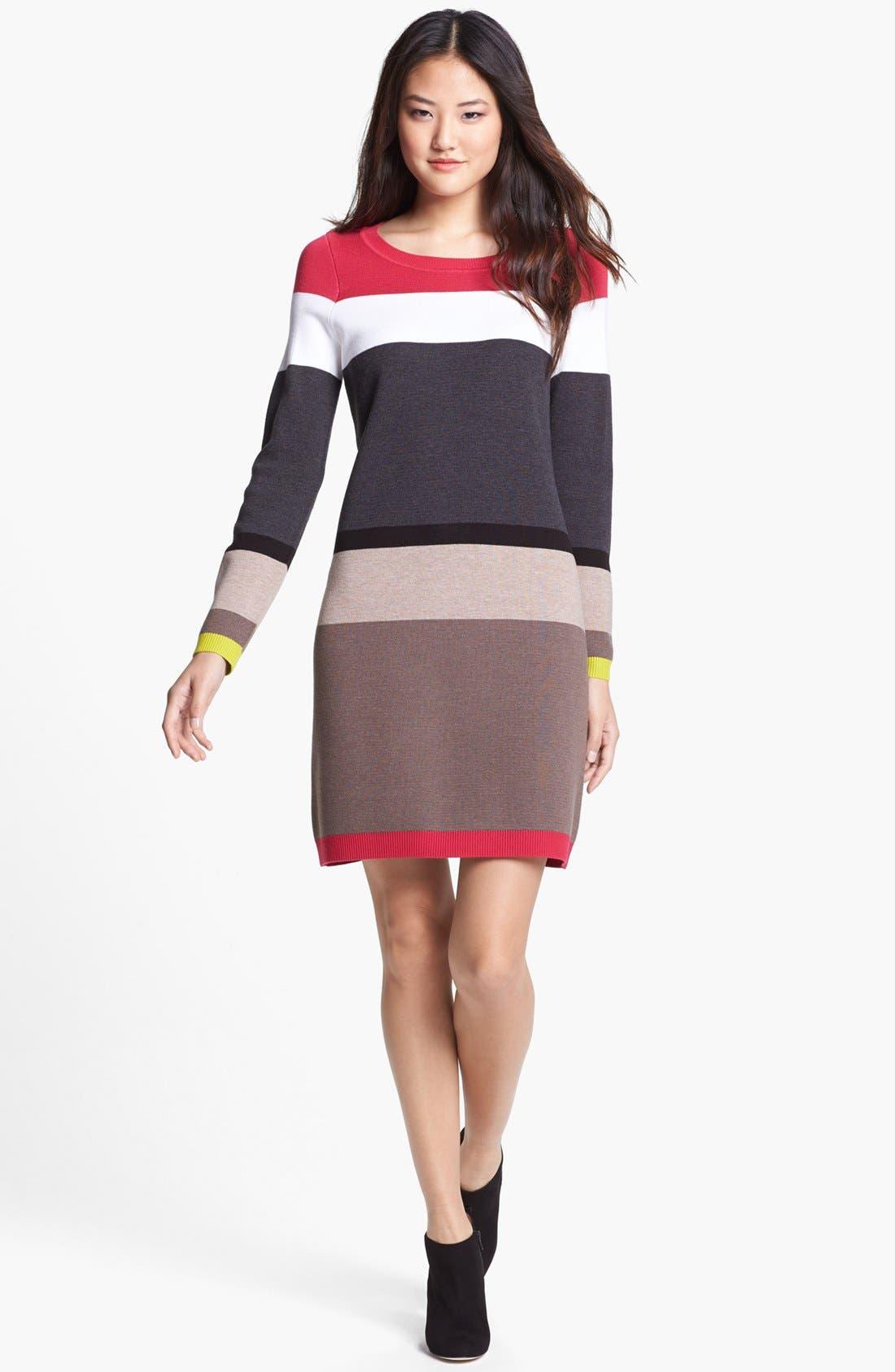 Alternate Image 1 Selected - Eliza J Stripe Sweater Dress