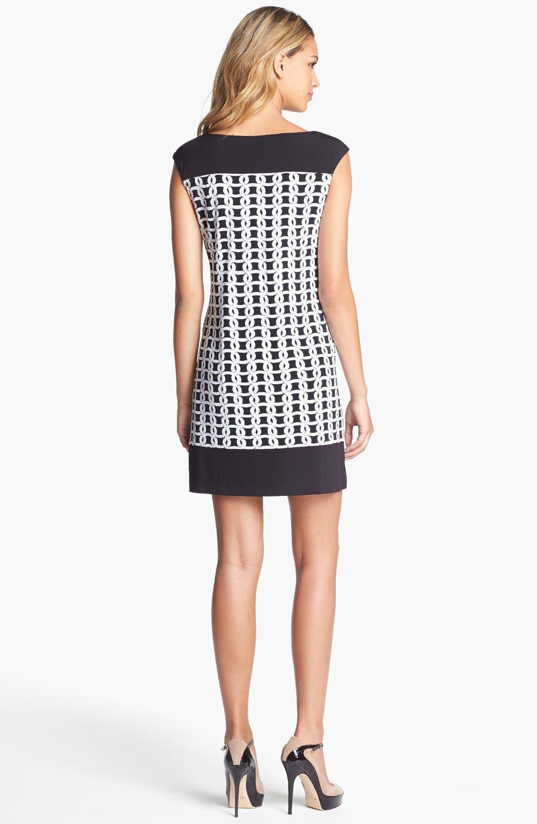 Alternate Image 2  - Maggy London Print Jersey Shift Dress (Petite)