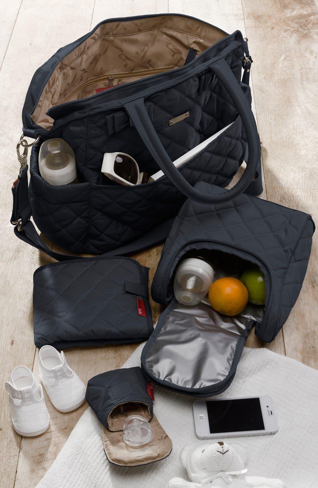 Bobby Diaper Bag,                             Alternate thumbnail 5, color,                             Black