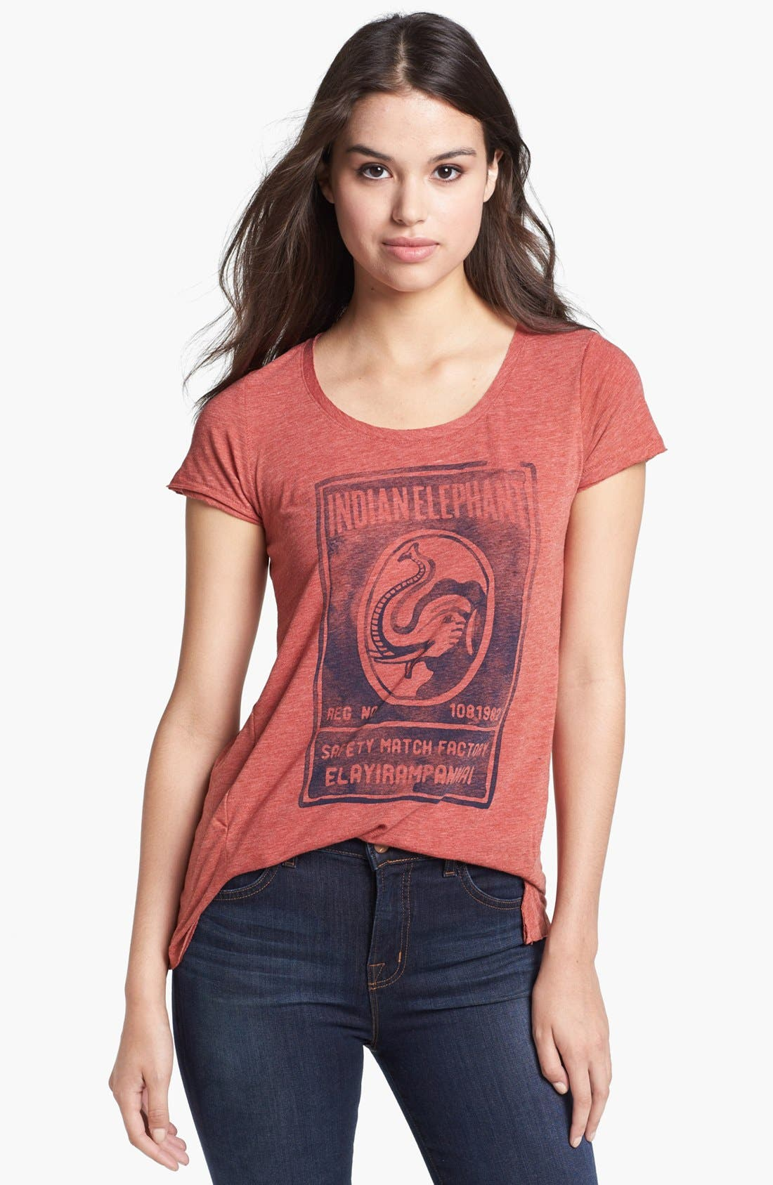 Alternate Image 1 Selected - Lucky Brand Elephant Graphic Tee